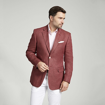 Bordeaux Linen Twill Jacket