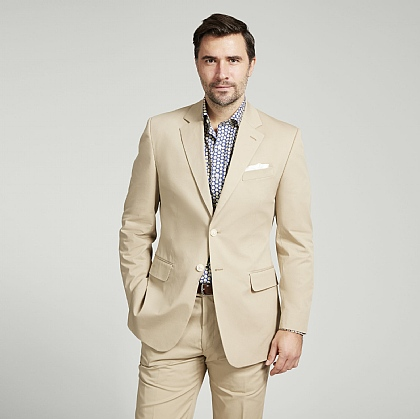 Beige Cotton Jacket