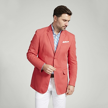 Coral Casual Cotton Jacket