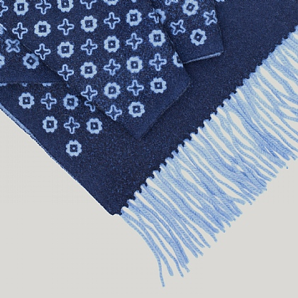 Blue Stars Wool and Cashmere Scarf