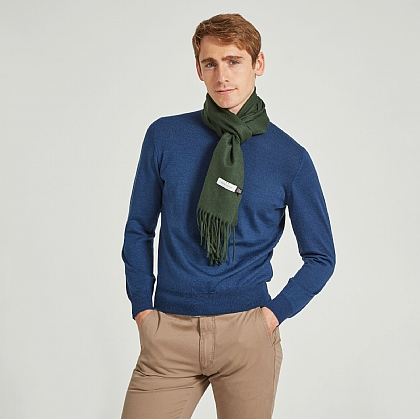 Green Pure Cashmere Scarf