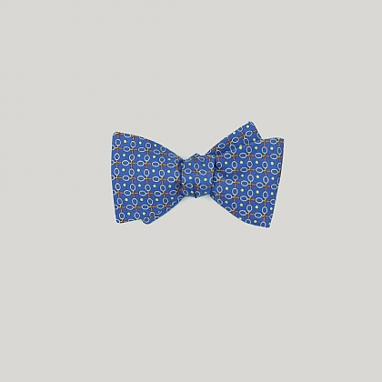 Blue Tennis Racquets Printed Bow