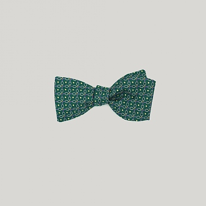 Green Tennis Racquets Printed Bow