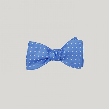 Sky with White Spots Silk Bow Tie