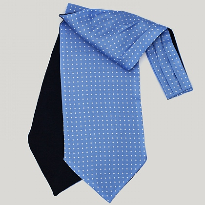 Sky with White Spots Silk Cravat
