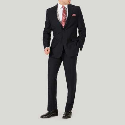 Grey Plain Pick n Pick Wool Suit