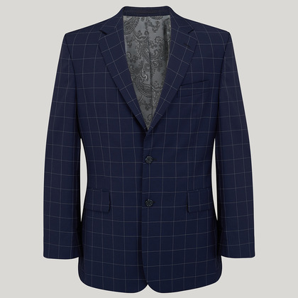 Blue Check Wool Classic Fit Suit